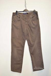 Pantalone Uomo Trussardi Jeans Marrone Tg 54