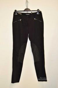 Pantalone Donna Nero Dolce & Gabbana Tg 42 Made In Italy