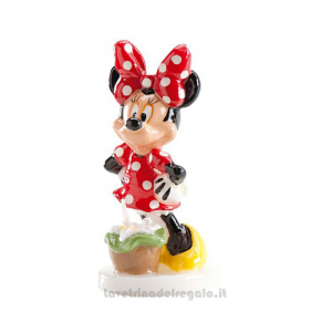 Candelina Minnie 3D in cera Compleanno bimba 9 cm - Party torta