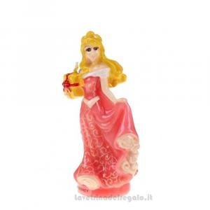 Candelina Principessa Aurora 3D in cera Compleanno bimba 9 cm - Party torta