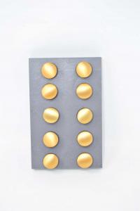 10 Pomelli In Ottone Satinato