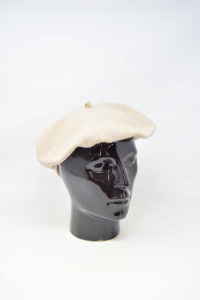Hat In French In Wool Beige Brand Cacharel Made In Paris