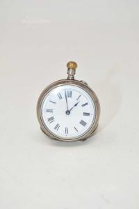 Orologio Da Taschino Argent 0.800 Codice 168984 (con Iniziali) + Articolo Da Sistamere