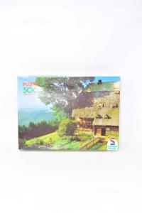 Puzzle Vintage Schmidt 500 Pezzi Raffigurante Paesaggio Di Montagna