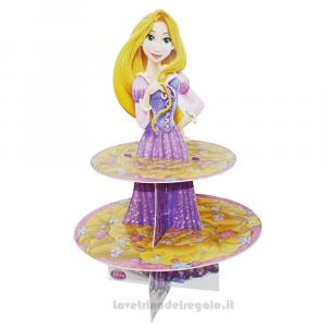 Alzatina Principessa Rapunzel Disney Compleanno bimba 28x40 cm - Party allestimento