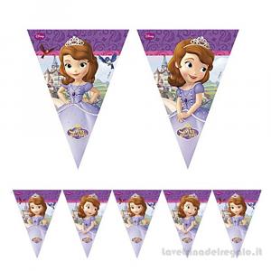Ghirlanda bandierine Principessa Sofia Compleanno bimba 2.30mt - Party allestimento