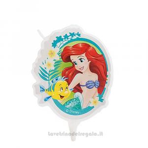 Candelina Ariel La Sirenetta in cera Compleanno bimba 7.5 cm - Party torta