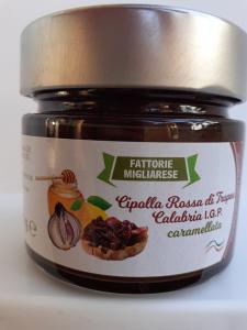 Cipolla Rossa di Tropea Calabria I.G.P.  Caramellata Fattorie Migliarese Soverato(CZ)