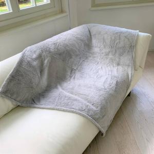 Plaid Soffice grigio chiaro 130 x 160