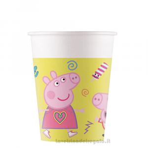 8 pz - Bicchieri Peppa Pig New Compleanno bimbi - Party tavola