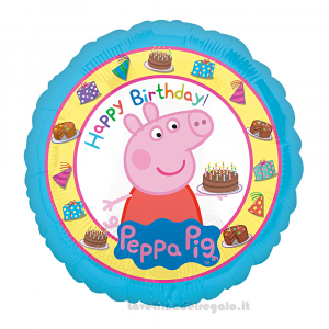 Palloncino Foil Peppa Pig Compleanno bimbi 43 cm - Party allestimento