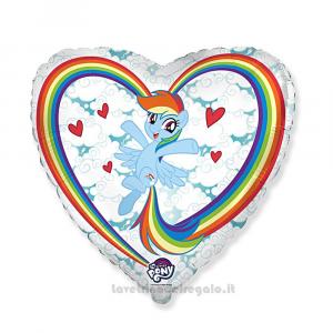 Palloncino cuore Foil My Little Pony Compleanno bimbi 45 cm - Party allestimento