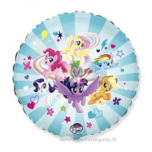 Palloncino celeste Foil My Little Pony Compleanno bimbi 45 cm - Party allestimento