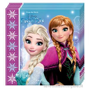 20 pz - Tovaglioli Frozen Northen Lights Disney 33x33 cm - Party tavola