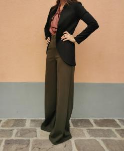 Pantalone largo crepe