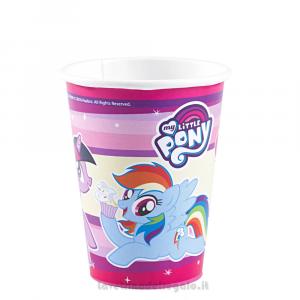 8 pz - Bicchieri My Little Pony Compleanno bimbi - Party tavola