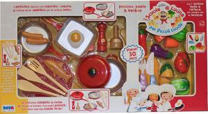 Set Pentolini e verdure con accessori 30 pz 11170