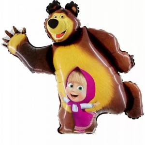 Palloncino sagomato Foil Masha e Orso Compleanno bimba 87 cm - Party allestimento