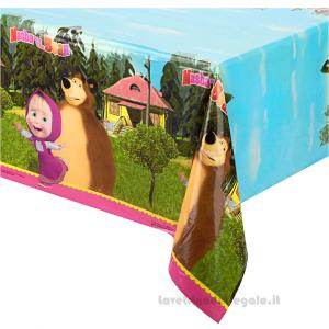 Tovaglia Masha e Orso Compleanno bimba 120x180 cm - Party tavola