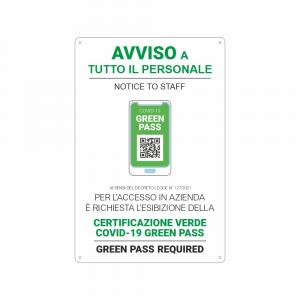 Cartello Green Pass personale