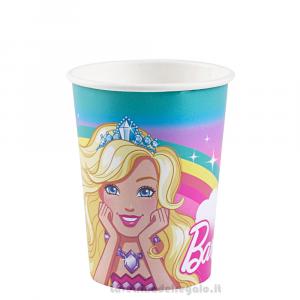 8 pz - Bicchieri Barbie Dreamtopia Compleanno bimba - Party tavola