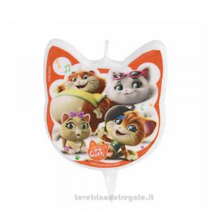 Candelina 44 Gatti 2D in cera Compleanno bimbi 8x11 cm - Party torta
