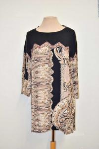Butxthe T-shirt Woman Elena Mirò Size 39f Brown Black Fantasy
