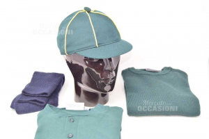 Complete From Scout Green Polo + Sweater + Cap + Calzettoni 6years