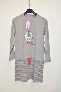 Shirt From Night Woman New Black Cherry Size 48 Print Paris