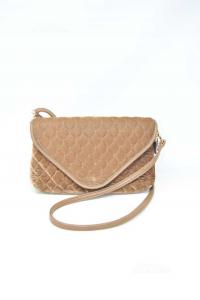 Shoulder Strap In Velvet Brown With Shoulderstrap In Similpelle 28x17 Cm