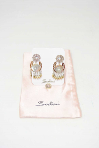 Earrings Sodini With Mother-of-pearl (missing To Gancetto Posteriore)