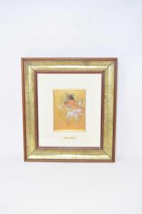 Painting Nudo Woman - Sheet Brass Author Enrico Felisari 27x30 Cm