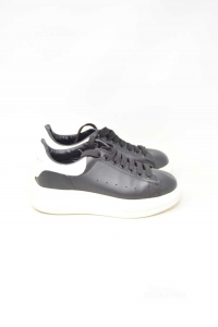 Shoes Unisexalexander Mc Queen White And Black N° 38