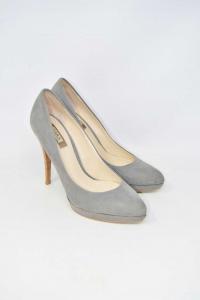 Shoes Col Heel Zara Grey N° 38