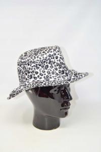 Cappello Donna Fantasia Leopardata Bianco Nero