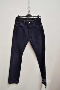 Jeans Man Levis Black W31 L 36 (buco Posteriore Sistemato)