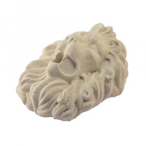 Testa di leone in marmo Giallo Istria scolpito a mano per fontana