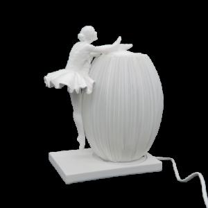 Mascagni lampada ballerina resina bianca