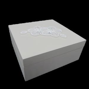 Mascagni scatola legno con fiore