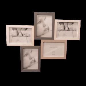 Mascagni, cornice legno 5 foto 13x18