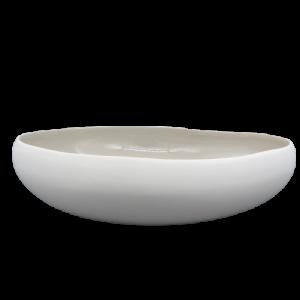 Mascagni centrotavola ceramica grigio cm35