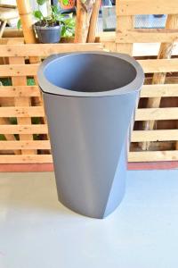 Plastic Pot Erba Srl Model Ellisse 55x75 Cm Anatracite New