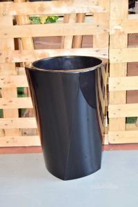Plastic Pot Erba Srl Model Ellisse 40x53 Cm Black New