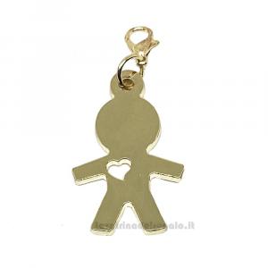 Ciondolo bambino in metallo dorato 2.4x3.5 cm - Decorazioni comunione bimbo