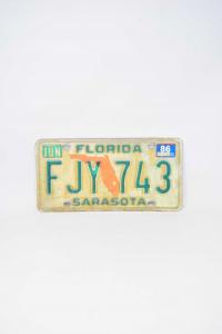 Targa Original Florida Sarasota Fjy 743
