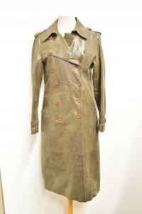 Cappotto Lungo Montereggi In Pelle Da Donna Tg 44