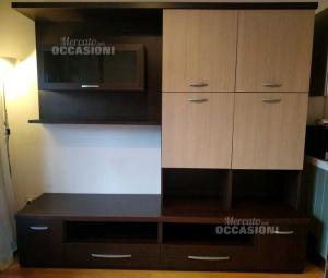 Cabinet Living Room Brown Dark With Ante Beige