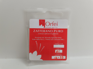 Zafferano di Motta San Giovanni gr 0,10 Ditta Orfei di Motta San Giovanni (RC)