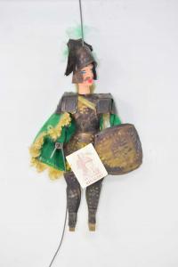 Pupo Sicilian Rinaldo Iron Dress Of Green Handmade Height 28 Cm