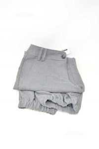 Trousers Woman Gray Variety Size L